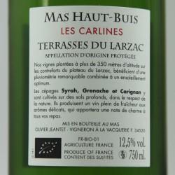 Mas Haut Buis LES CARLINES aop Terrasses du Larzac rouge 75cl