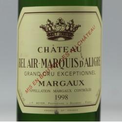 Château Bel Air - Marquis d'Aligre aop Margaux 1998