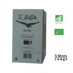 Vins Falguières L'AIGLA igp des Cévennes BIB rouge 5 L