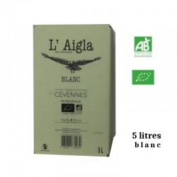 Vins Falguières L'AIGLA igp des Cévennes BIB BLANC5 L