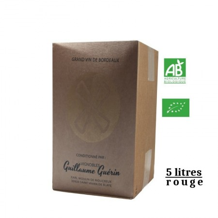 Vignobles Guerin aop Blaye Côtes de Bordeaux BIB rouge 5L