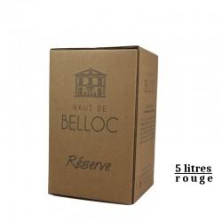 LES HAUT DE BELLOC igp Oc BIB rouge 5L