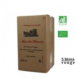 MAS DES BRUNES igp Côtes deThongue BIB  rouge 5L